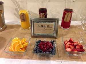 bridal-party-complimentary-mimosa-bar